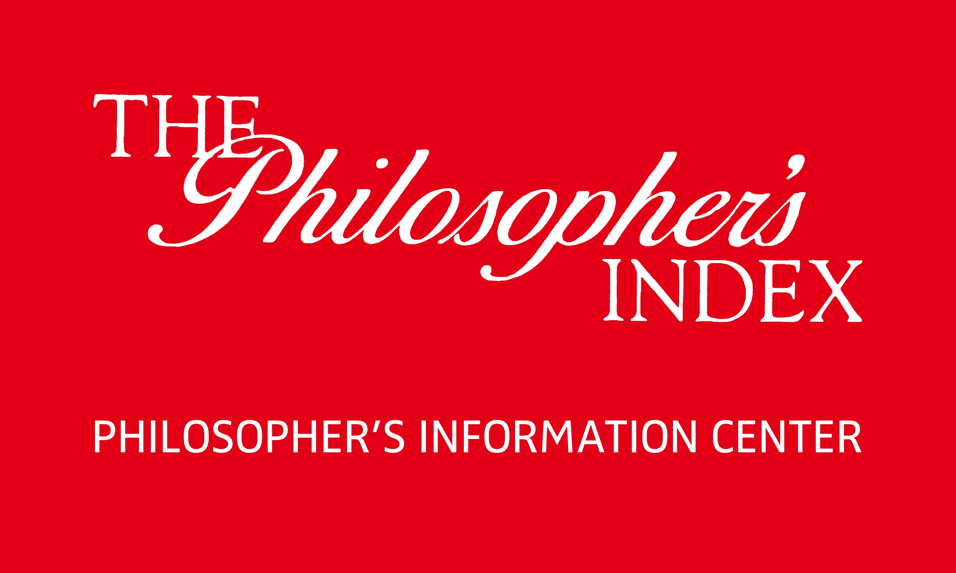 Resultado de imagen de the philosopher's index